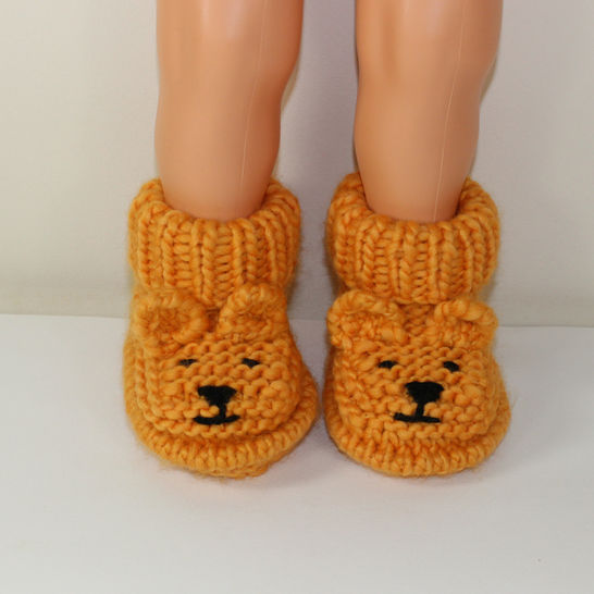Baby Teddy Bear Booties