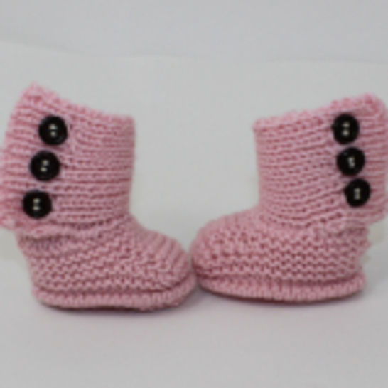 3 Button New Baby Booties
