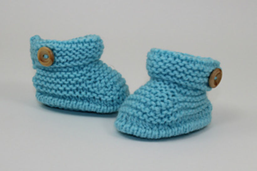 Baby Simple Cuff One Button Booties