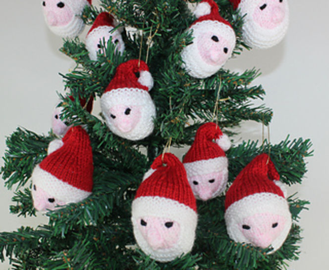 Santa Head Christmas Tree Baubles