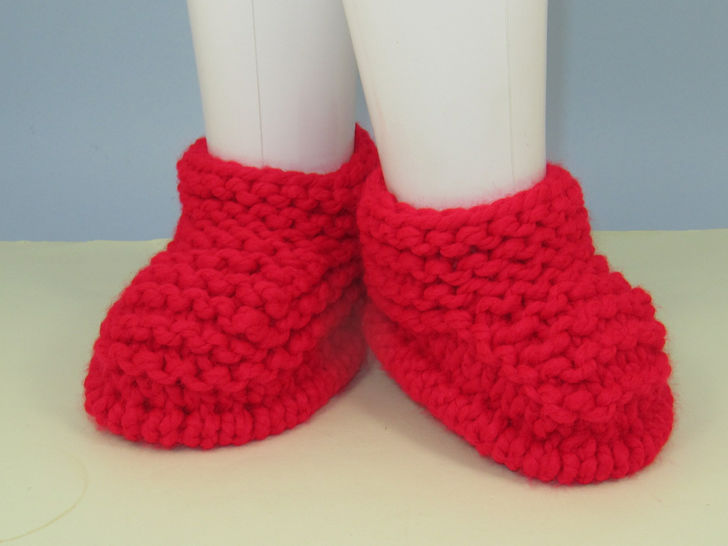 Super Chunky Simple Garter Stitch Slippers - Knitting