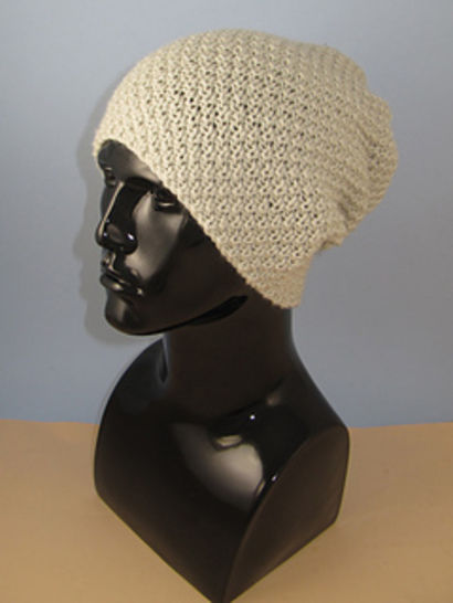 Chunky Unisex Double Moss Stitch Slouch Hat