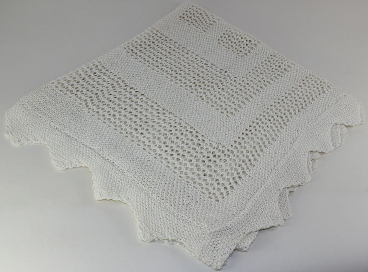 FREE Baby Easy Lace Shawl
