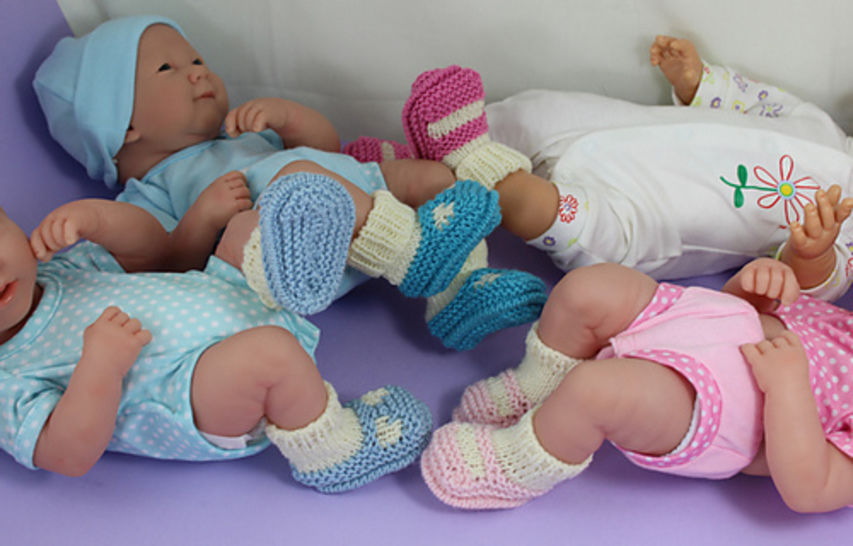 Preemie Tiny and Newborn Baby Sock and Slippers