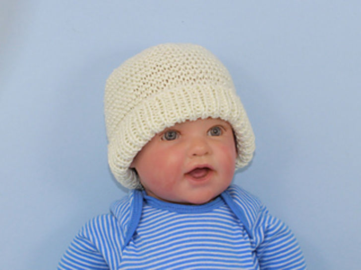 Baby Garter Stitch Beanie and Booties