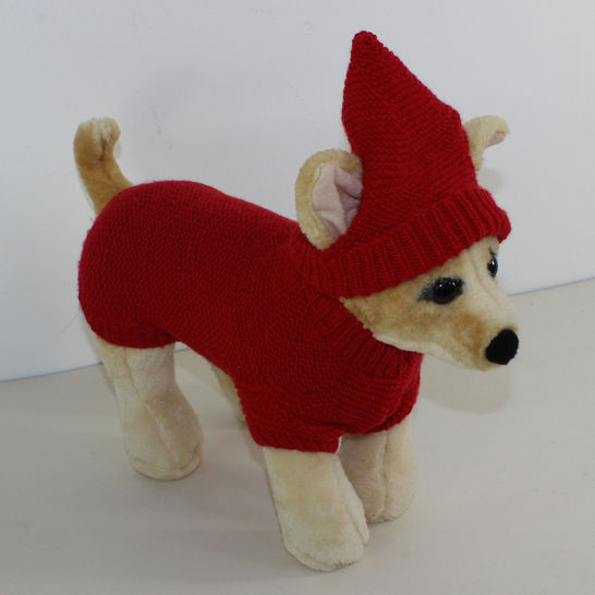 Small Dog 4 Ply Coat Visor & Pixie Hat