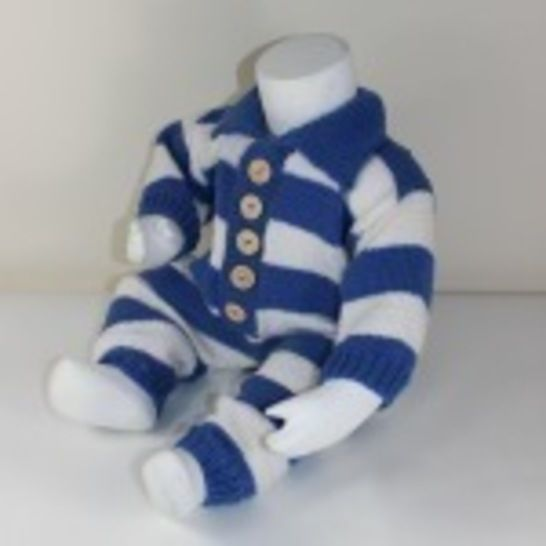 Baby Big Stripe Collar Onesie