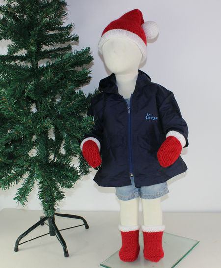 Toddler Santa Hat Boots and Mittens