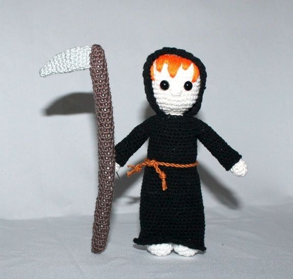 Halloween set, witch, death, ... crochet in english