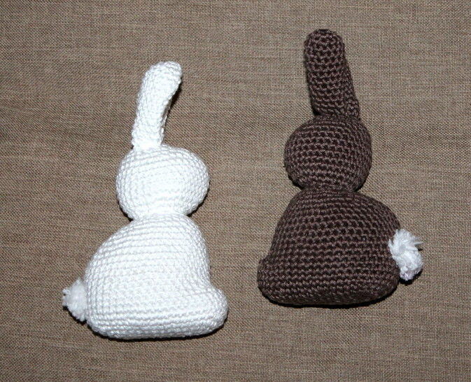 crochet eastern bunny white and brown