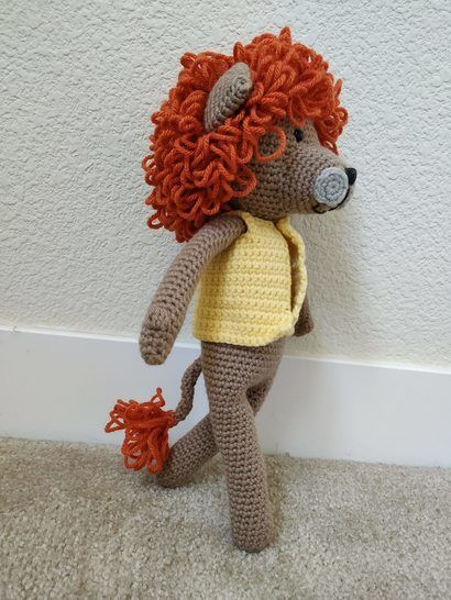 Amigurumi – Saroo the lion - crochet – tutorial