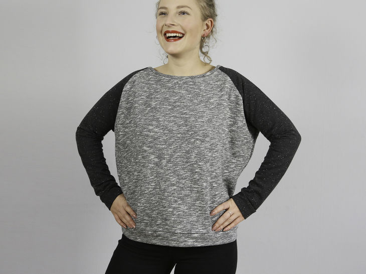 Madame MONA - Sweater raglan XS-L - couture