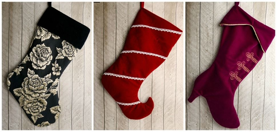 Yuletide Stocking- sewing pattern for Christmas stocking
