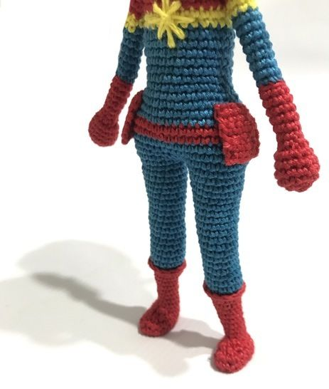 Captain Marvel Amigurumi Doll