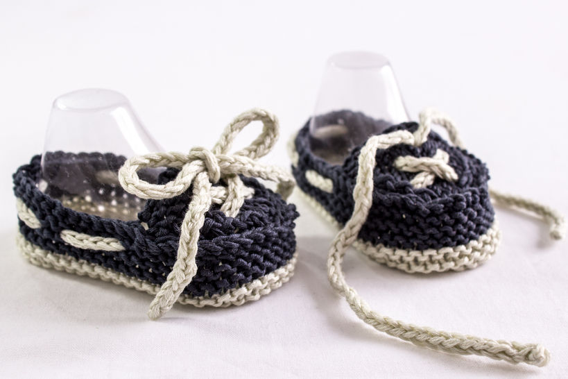 Baby Boat Shoes, Knitting Pattern