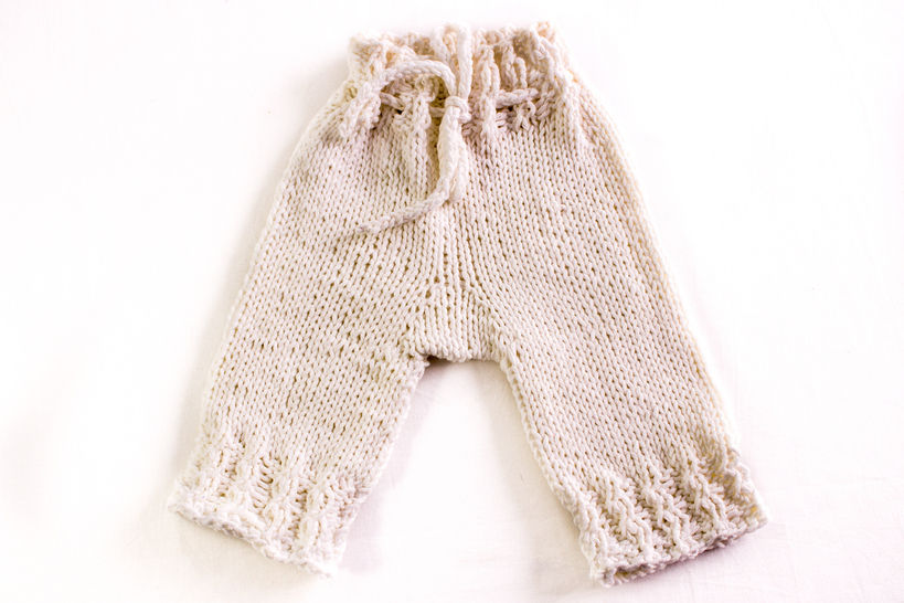 KNITTING PATTERN, Knitted Designer Baby Pants, Baby Shorts , Baby Trousers , In 5 Sizes, Baby Pants Pattern