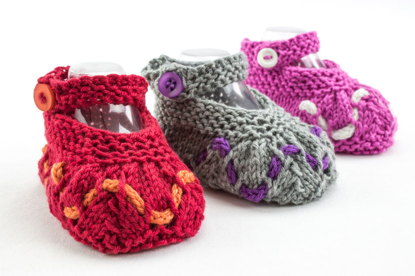 Baby Girl Summer Booties, Knitting Pattern, Baby Girl Shoes Pattern