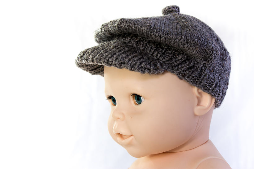 Newsboy Cap- Brimmed Cap- Knitting Pattern