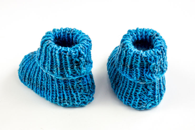Baby Booties - Retro Look - Knitting Pattern