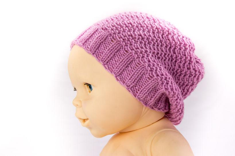 Baby Slouch Hat - Beanie - Knitting Pattern