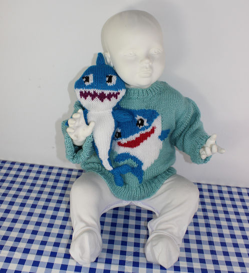 Baby & Toddler Shark Sweater and Toy
