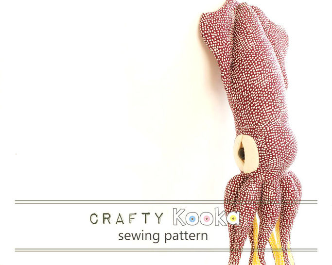 Squid sewing pattern - instant download pdf