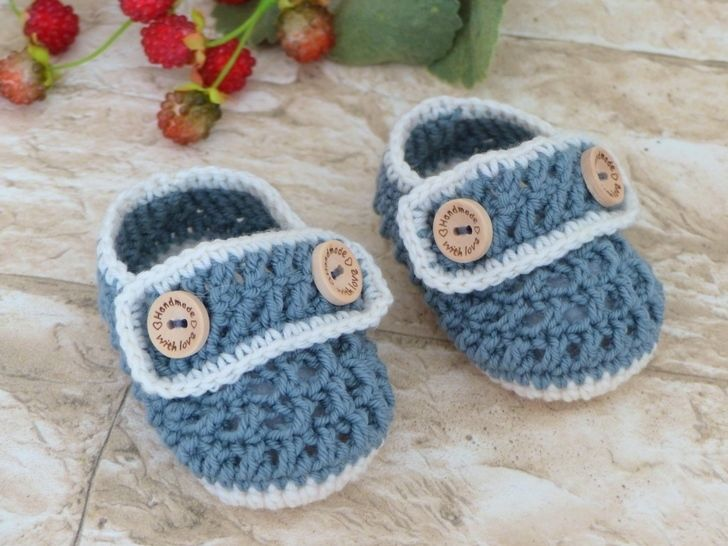"""Baby Shoes """"Henry"""", 0-6 months – Crochet Pattern"""