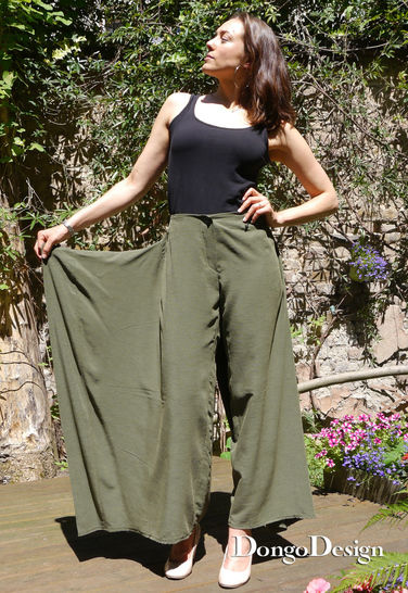 PDF Sewing Pattern Ebook Flap-Pants with sewing instructions