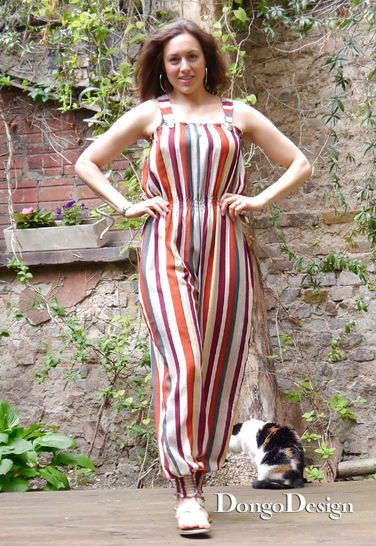 PDF sewing pattern E-Book Jumpsuit Rebecca with instructions