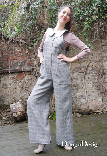 PDF sewing pattern E-Book Jumpsuit Sandra with instructions
