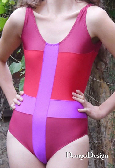 PDF sewing pattern E-Book Swimsuit Behind the Enemy Lines