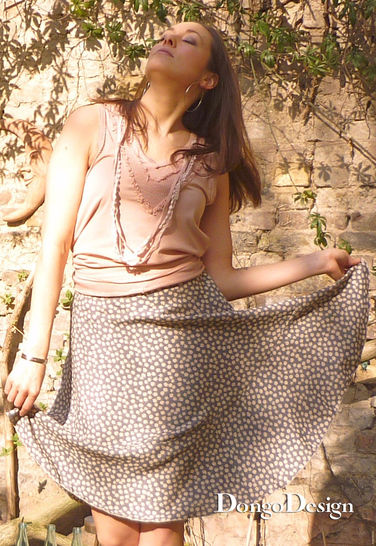 PDF sewing pattern E-Book Skirt Swing with instructions