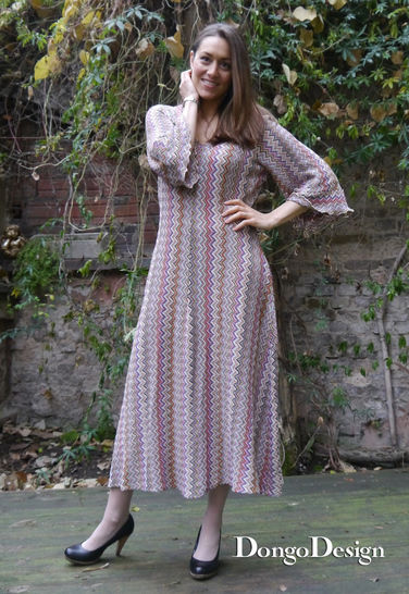 PDF sewing pattern Jersey Dress Kathrin with instructions