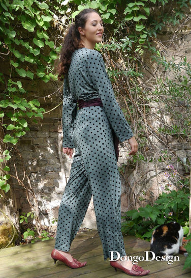 PDF Sewing pattern EBook  Jumpsuit Dana with instructions