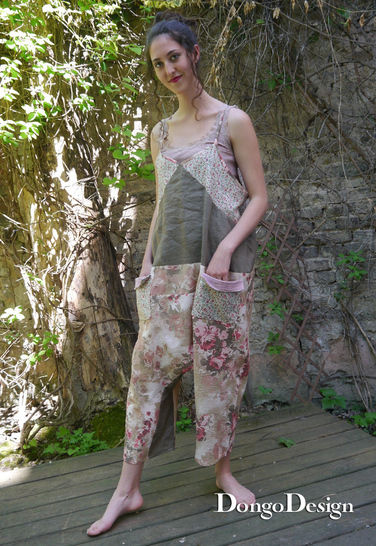 PDF Sewing Pattern Ebook jumpsuit Bertha with instructions
