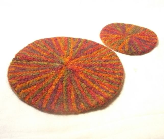 Starburst Mat and Coaster set- knitting pattern