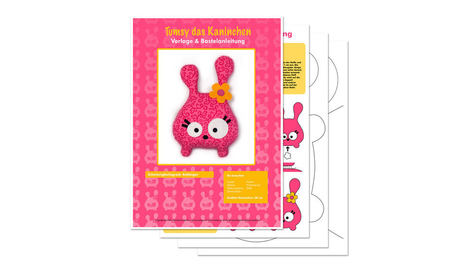 Tumsy the bunny sewing pattern