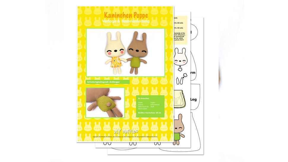 Bunnies sewing pattern
