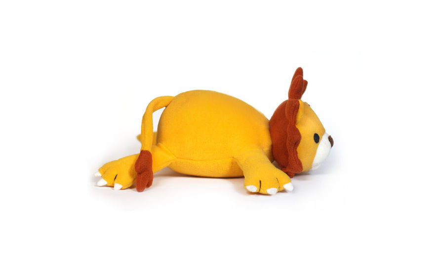 Lucky the lion soft toy sewing pattern