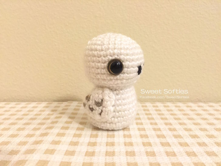 Snowy Barn Baby Owl Doll Pattern (Harry Potter Hedwig)