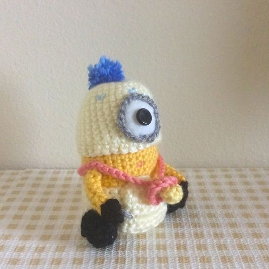 "Baby Minion from ""Despicable Me"" Movie Amigurumi Doll"