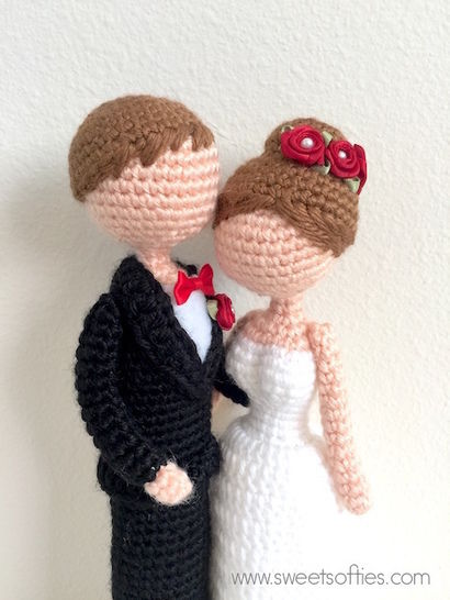 Loving Bride and Groom Wedding Dolls - Sweet Softies | Amigurumi ... | 546x410