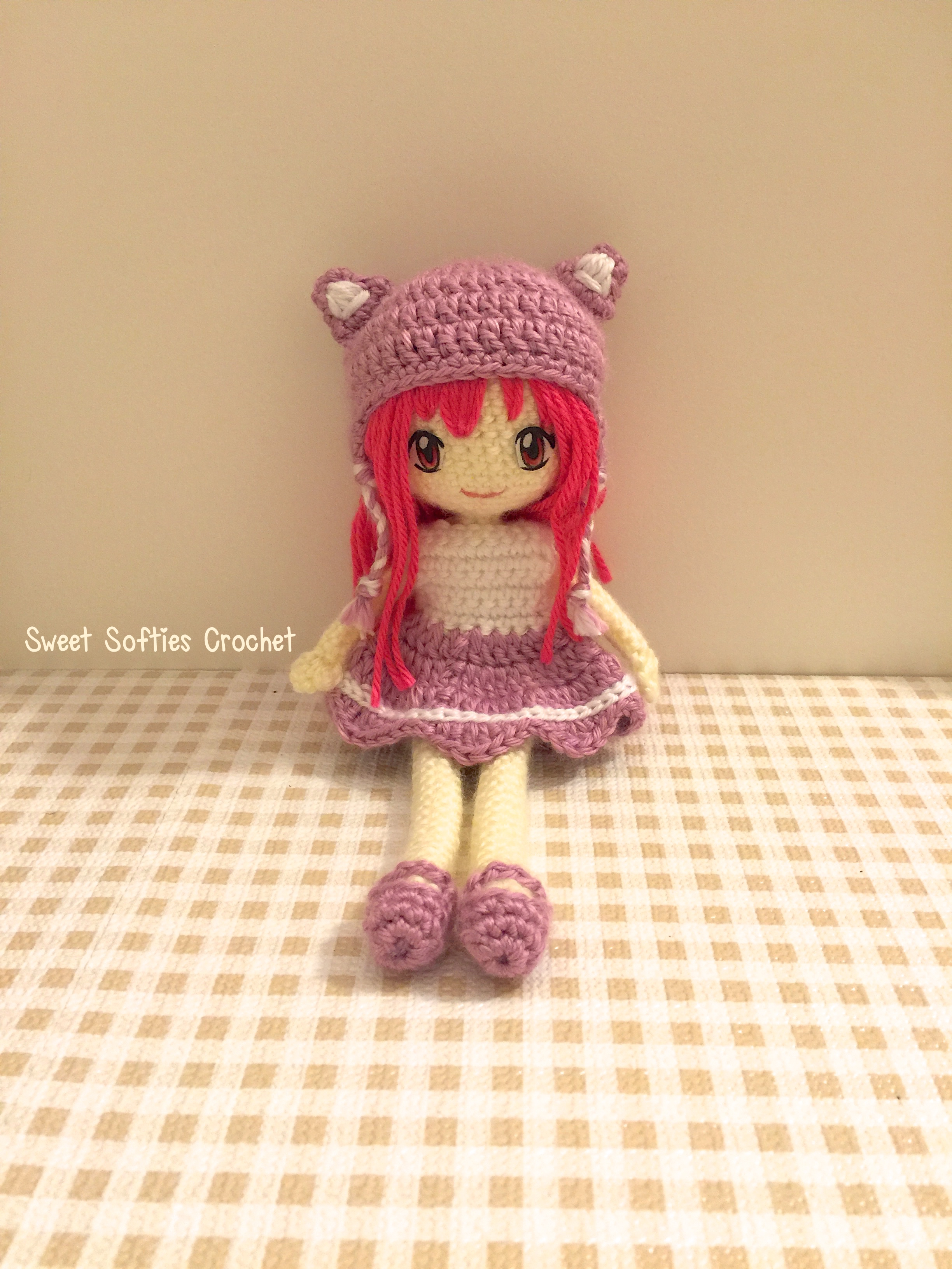 Curly Amigurumi Hair Tutorial | Crochet patterns, Crochet dolls ... | 3264x2448