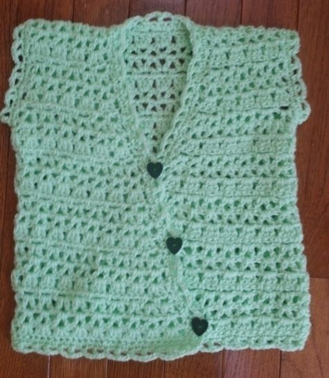 3 Baby Vests Crochet Patterns