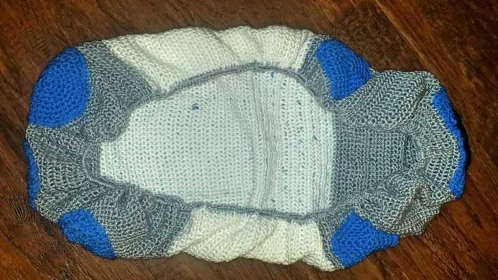 Infant Droid Car Seat Canopy Crochet Pattern Inspired by R2D2