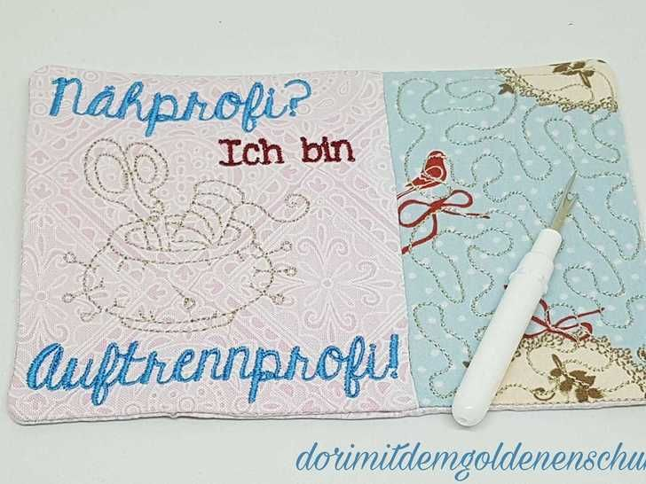 Stickdatei ITH Sewing Quotes MugRugs in PES