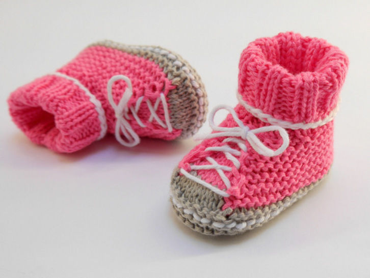 Strickanleitung -  Baby Turnschuhe SNEAKERS - No.174