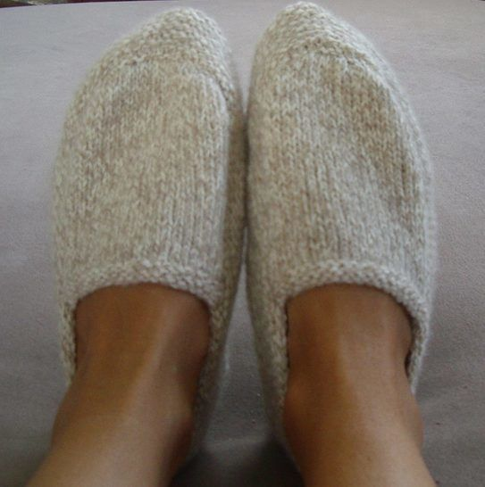 Family 8ply slippers - knitting pattern - Shay