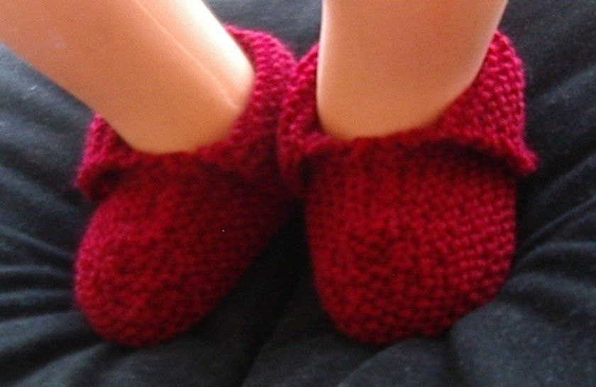 Baby shoes or slippers in 8ply garter stitch - Cynthia