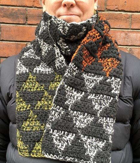 Crochet Scarf Pattern for Men (Manly-Man Scarf)